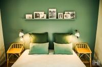Chambre bleu et verte