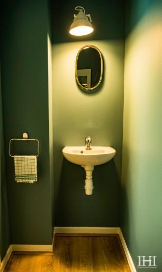 Maison moulleau décoration d'intérieur vert